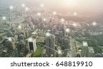 city with connection line... | Shutterstock . vector #648819910