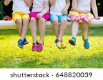 footwear for children. group of ... | Shutterstock . vector #648820039