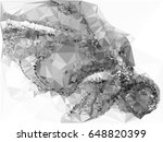 grayscale triangular background ... | Shutterstock .eps vector #648820399