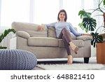 wide shot of graceful female... | Shutterstock . vector #648821410