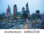 night city of london view in... | Shutterstock . vector #648822538