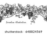seamless illustration of grapes.... | Shutterstock .eps vector #648824569
