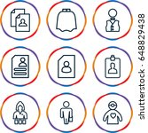occupation icons set. set of 9...   Shutterstock .eps vector #648829438