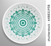 decorative plate with round... | Shutterstock .eps vector #648831958