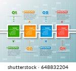 vector abstract 3d paper... | Shutterstock .eps vector #648832204