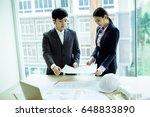 image of engineer meeting for... | Shutterstock . vector #648833890