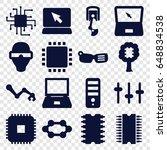 tech icons set. set of 16 tech...