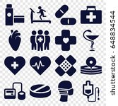 healthcare icons set. set of 16 ...   Shutterstock .eps vector #648834544