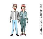 nice couple with hairstyle and... | Shutterstock .eps vector #648835180