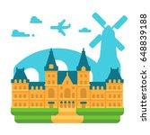 flat design rijksmuseum... | Shutterstock .eps vector #648839188
