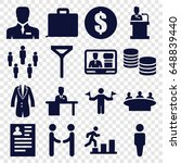 businessman icons set. set of... | Shutterstock .eps vector #648839440