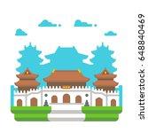 flat design jingan temple...   Shutterstock .eps vector #648840469