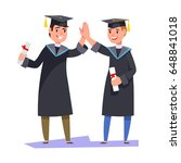 couple happy smiling graduates... | Shutterstock .eps vector #648841018