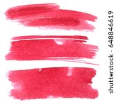 set of red brush strokes... | Shutterstock . vector #648846619