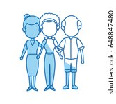 family mom with grandparents... | Shutterstock .eps vector #648847480