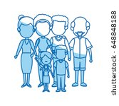 cute family people together... | Shutterstock .eps vector #648848188