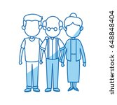 lovely grandparents with young... | Shutterstock .eps vector #648848404