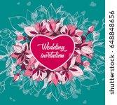 wedding invitation   Shutterstock .eps vector #648848656