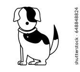 cartoon dog animal pet family... | Shutterstock .eps vector #648848824
