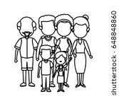 cute family people together... | Shutterstock .eps vector #648848860