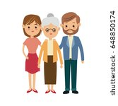 family parent and grandparents... | Shutterstock .eps vector #648850174