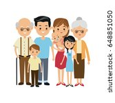 very adorable big family... | Shutterstock .eps vector #648851050