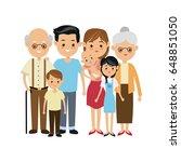 very adorable big family... | Shutterstock .eps vector #648851050