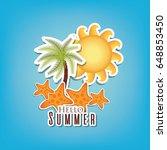 hello summer design | Shutterstock .eps vector #648853450