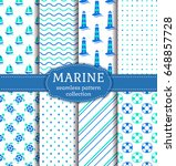 set of marine and nautical... | Shutterstock .eps vector #648857728