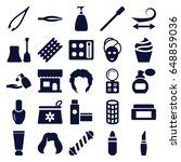 cosmetic icons set. set of 25... | Shutterstock .eps vector #648859036