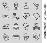 doctor icons set. set of 16...   Shutterstock .eps vector #648860200