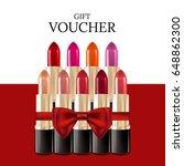 gift voucher for color set of... | Shutterstock .eps vector #648862300