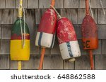 buoys hang on the side of a... | Shutterstock . vector #648862588