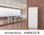 blank roll up banner stand in... | Shutterstock . vector #648862678