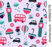 seamless london geometric... | Shutterstock .eps vector #648863278