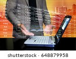 businessman in stock trading... | Shutterstock . vector #648879958