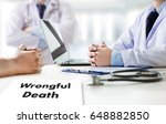 wrongful death doctor talk and  ... | Shutterstock . vector #648882850
