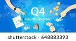 q4 fourth quarter business...   Shutterstock .eps vector #648883393