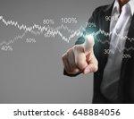 businessman with financial... | Shutterstock . vector #648884056
