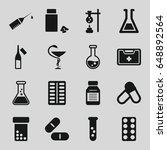 drug icons set. set of 16 drug...   Shutterstock .eps vector #648892564