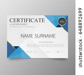 certificate premium template... | Shutterstock .eps vector #648892699
