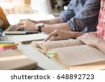 young woman and man studying... | Shutterstock . vector #648892723