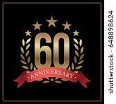 60 years golden anniversary... | Shutterstock .eps vector #648898624