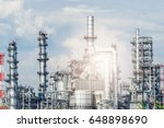 oil and gas industry refinery... | Shutterstock . vector #648898690