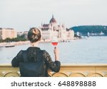 young woman tourist standing... | Shutterstock . vector #648898888
