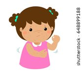 girl with health problem... | Shutterstock .eps vector #648899188