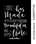 he has made everything... | Shutterstock .eps vector #648899740
