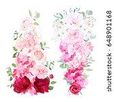 delicate wedding ombre bouquets ... | Shutterstock .eps vector #648901168