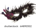 Black Feather Carnival Mask On...