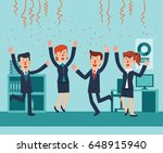 young and happy business people ... | Shutterstock .eps vector #648915940